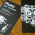 12 Ejemplos de diseño de tarjeta de visita blanco y negro